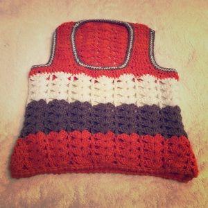 🔷🧶 VINTAGE crochet Sweater Vest HandMade